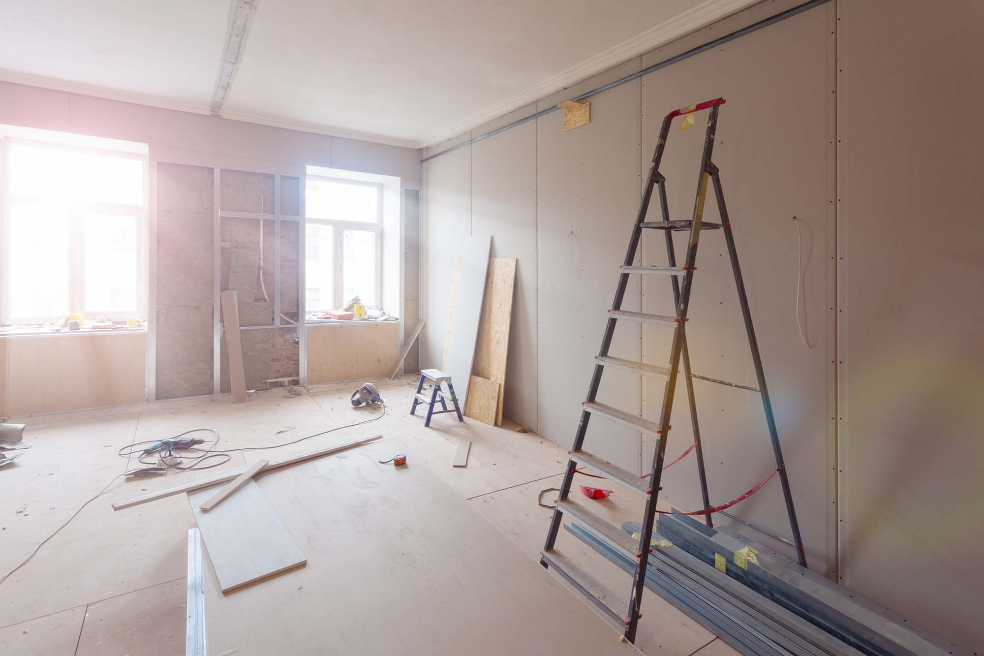 interior of apartment during construction